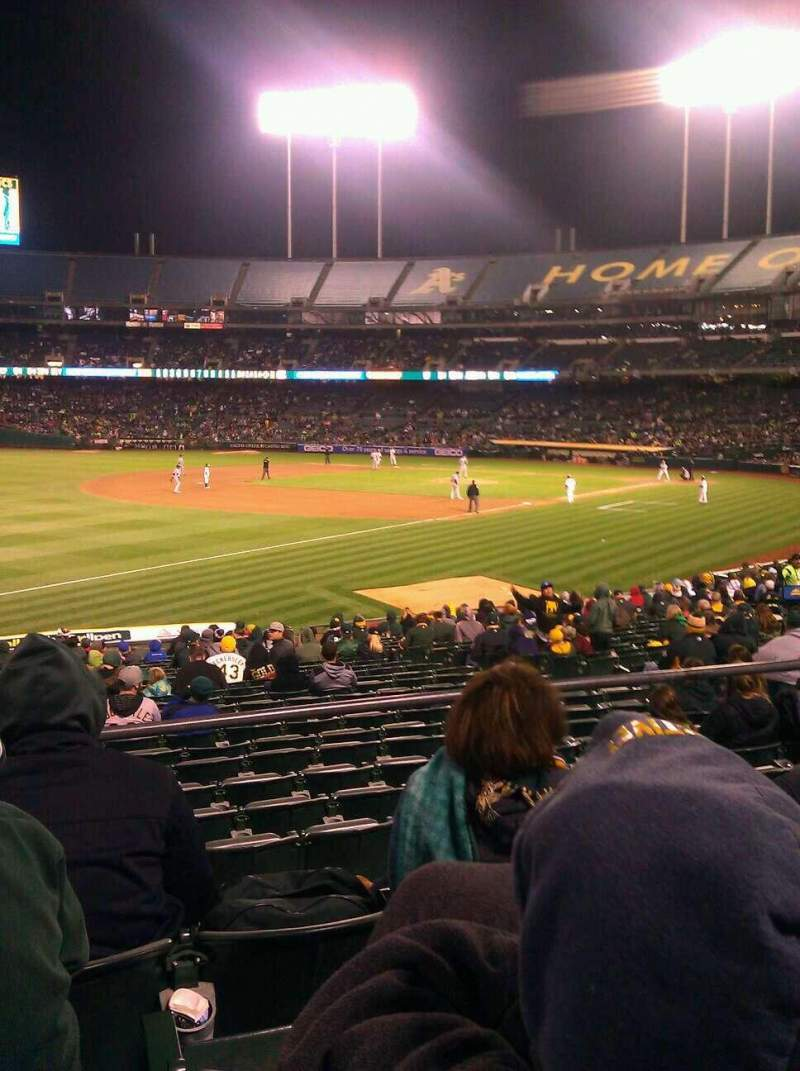 Seating view for Oakland Alameda Coliseum Section 128 Row 24 Seat 15