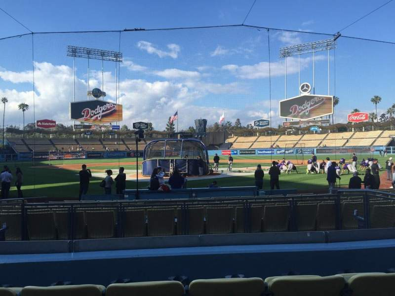 Dodger Stadium, section: 2FD, row: D, seat: 5