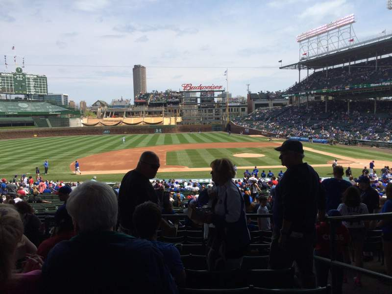Seating view for Wrigley Field Section 213 Row 6 Seat 8