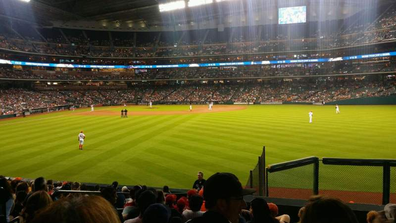 Seating view for Minute Maid Park Section 155 Row 15 Seat 6
