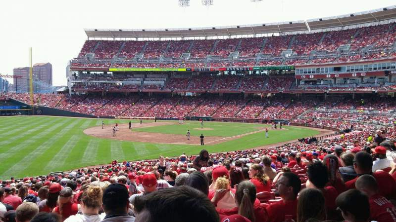 Seating view for Great American Ball Park Section 110 Row NN Seat 12