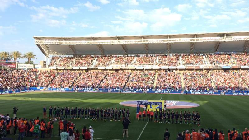 Seating view for StubHub Center Section 111 Row L Seat 8