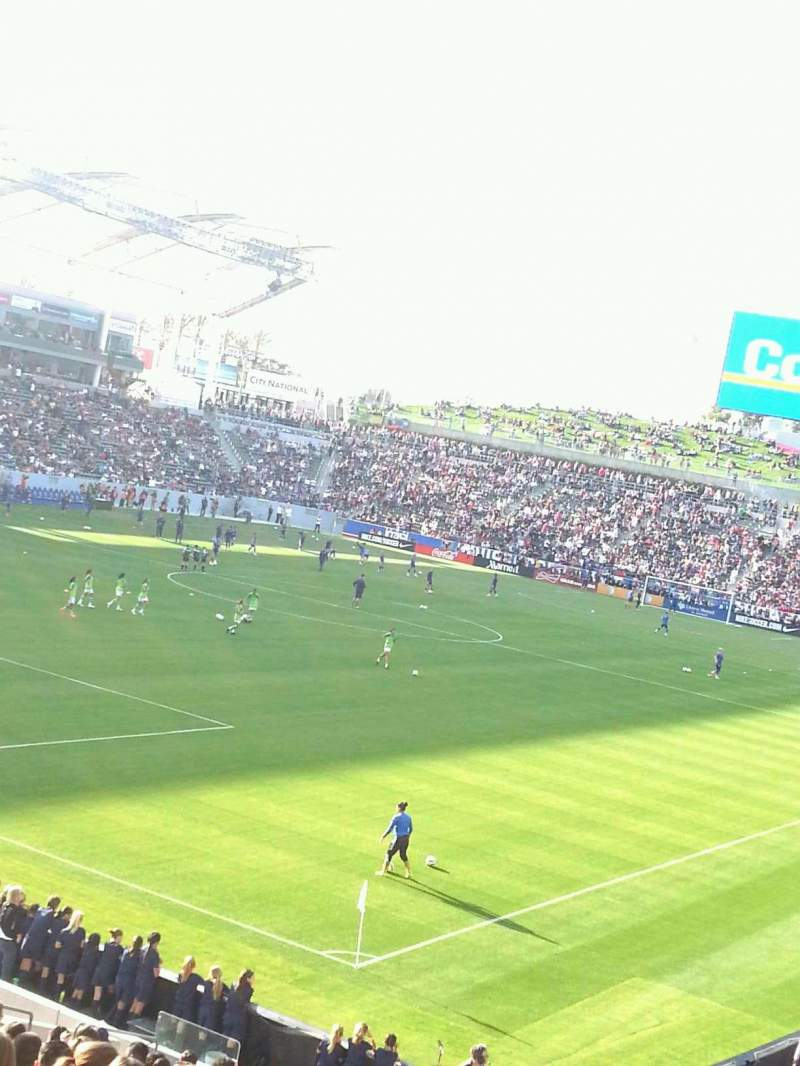 Seating view for StubHub Center Section 139 Row Y Seat 2