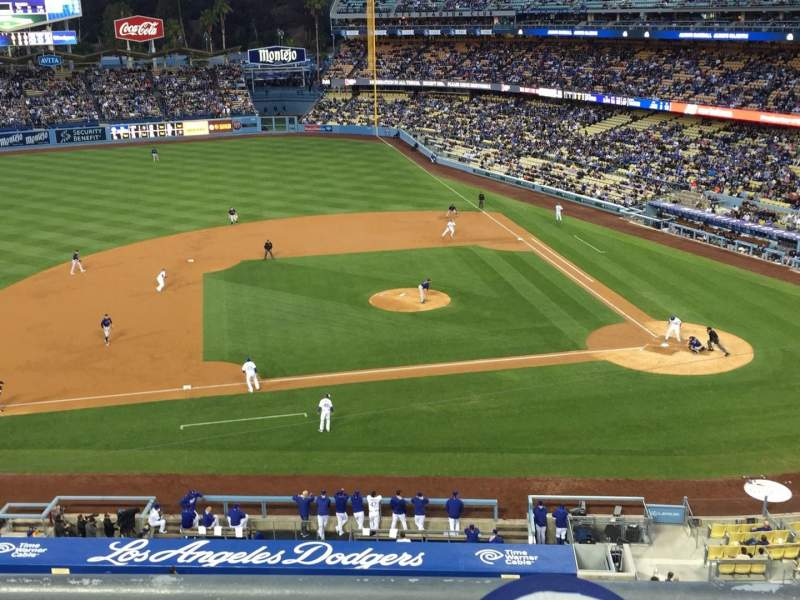Seating view for Dodger Stadium Section 13RS Row B Seat 15-18
