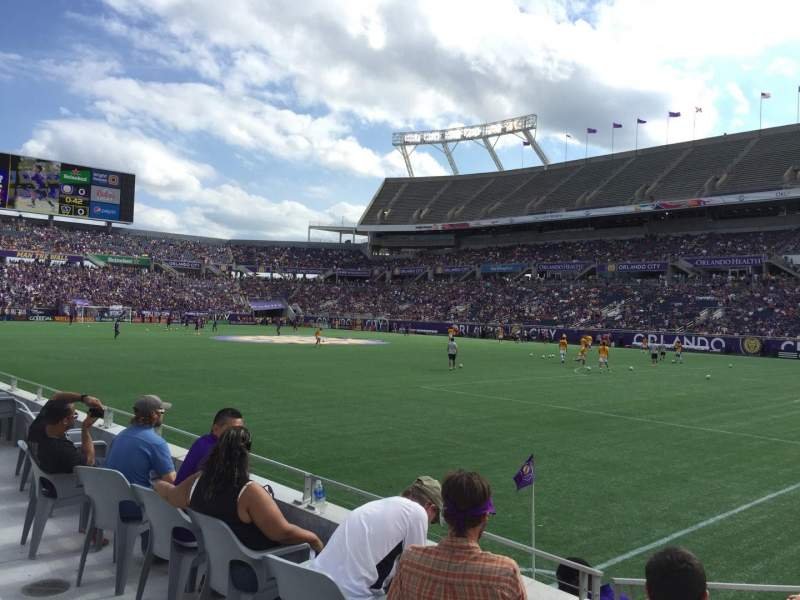 Seating view for Camping World Stadium Section 101 Row A Seat 8