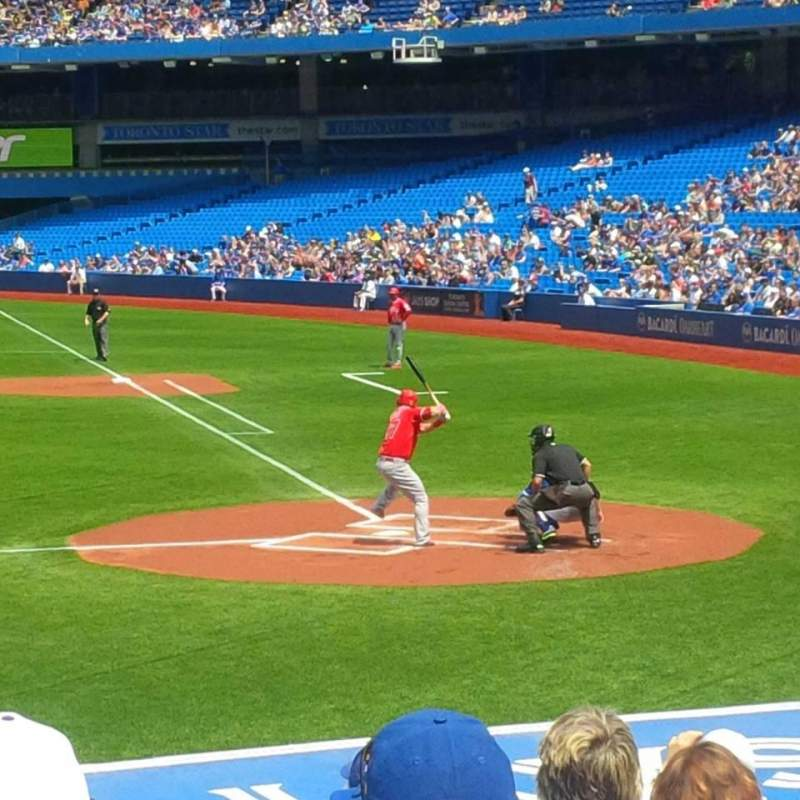 Seating view for Rogers Centre Section 125 Row 17 Seat 1