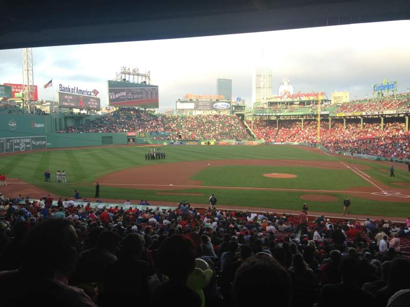 Seating view for Fenway Park Section Grandstand 25 Row 12 Seat 5