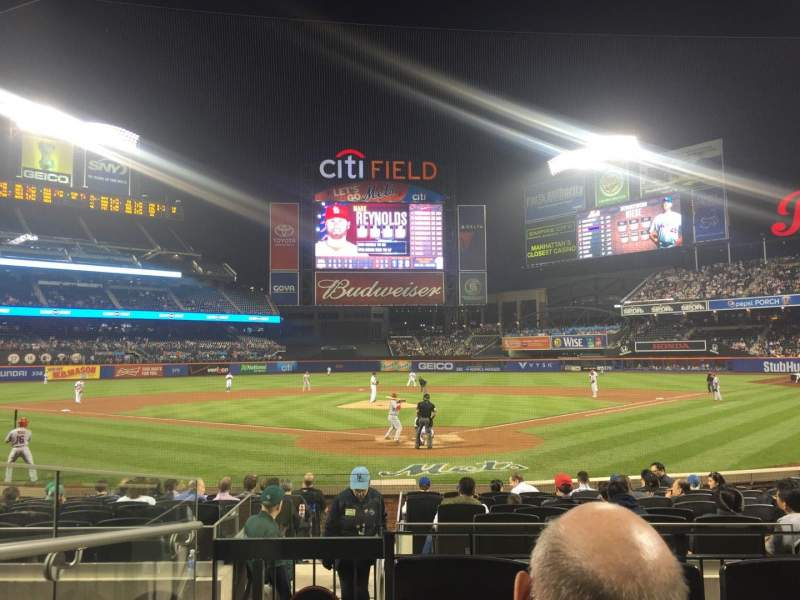 Seating view for Citi Field Section 15 Row 12 Seat 1
