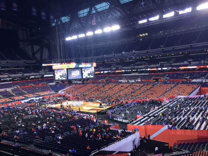Seating view for Lucas Oil Stadium Section 407 Row 1 Seat 1