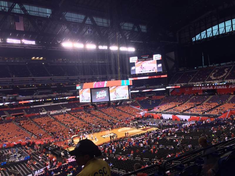 Seating view for Lucas Oil Stadium Section 417 Row 1 Seat 1