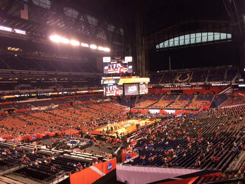 Seating view for Lucas Oil Stadium Section 422 Row 1 Seat 1
