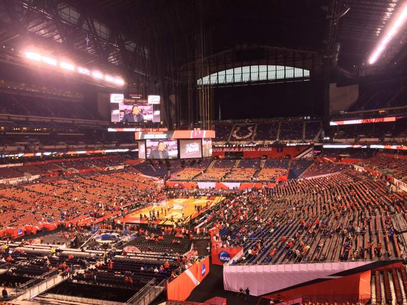 Seating view for Lucas Oil Stadium Section 423 Row 1 Seat 1