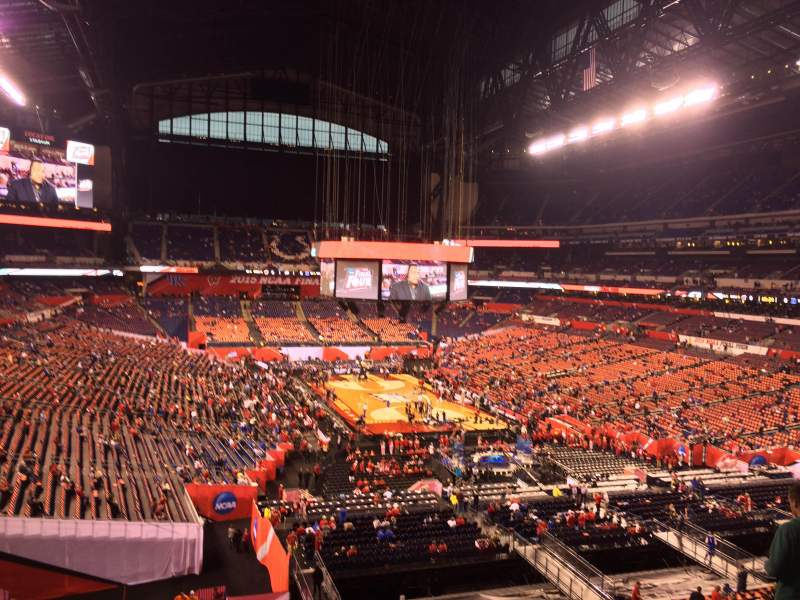 Seating view for Lucas Oil Stadium Section 429 Row 1 Seat 1