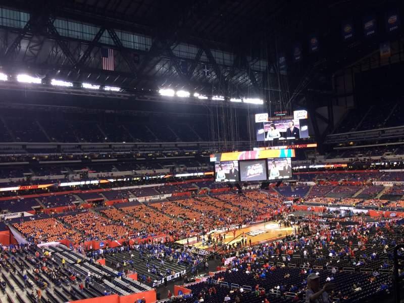 Lucas Oil Stadium, section: 446, row: 1, seat: 1