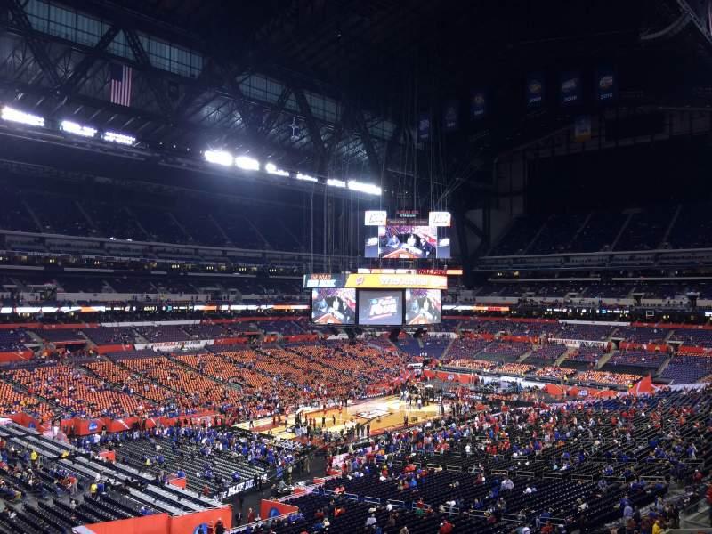 Lucas Oil Stadium, section: 447, row: 1, seat: 1