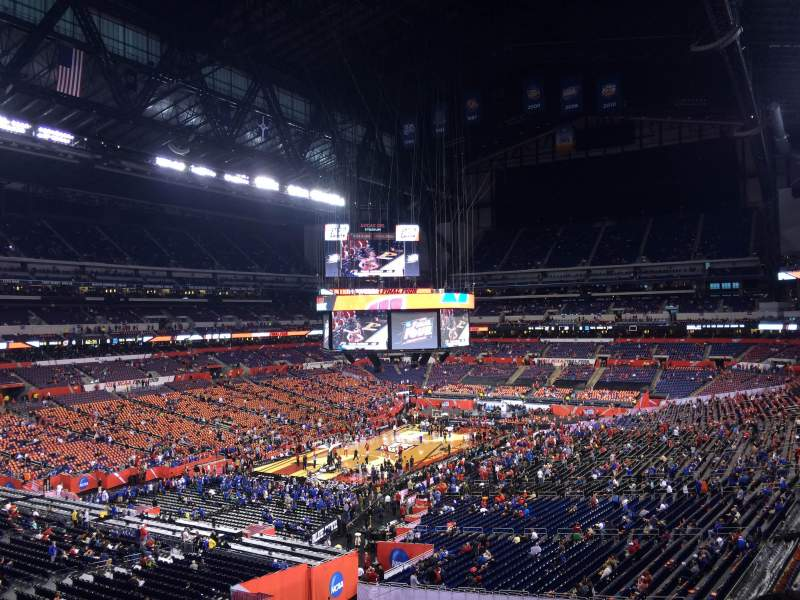 Seating view for Lucas Oil Stadium Section 449 Row 1 Seat 1