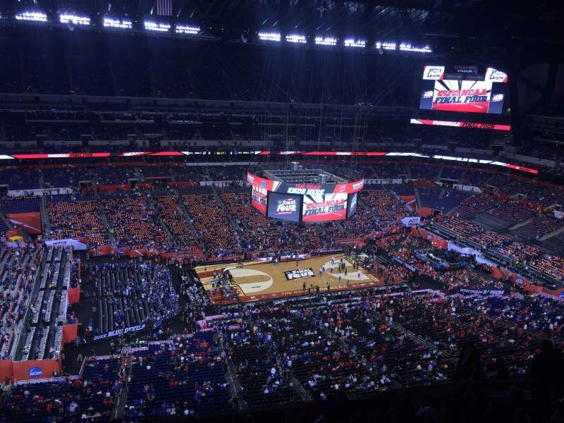 Seating view for Lucas Oil Stadium Section 643