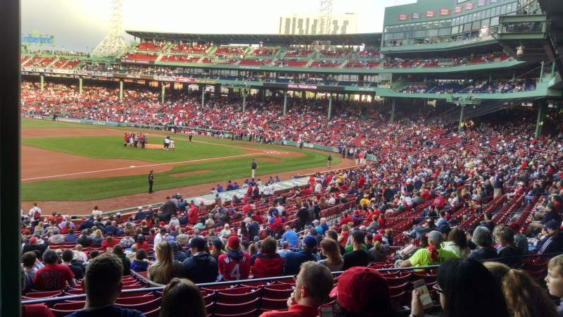 Seating view for Fenway Park Section GrandStand 29 Row 5 Seat 25