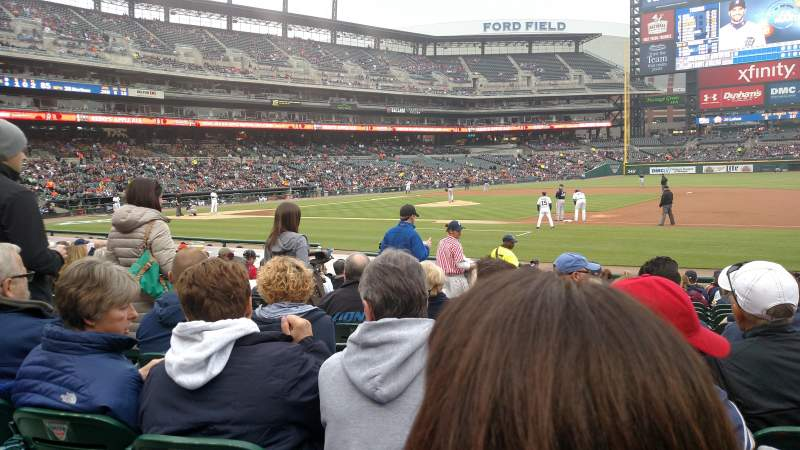 Seating view for Comerica Park Section 119 Row 17 Seat 12