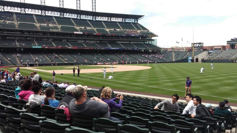 Seating view for Coors Field Section 114 Row 14 Seat 19