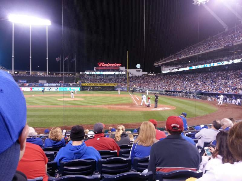 Seating view for Kauffman Stadium Section 124 Row H Seat 5