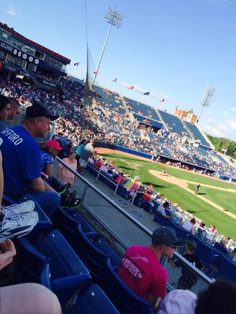 Seating view for Salem Memorial Baseball Stadium Section GA
