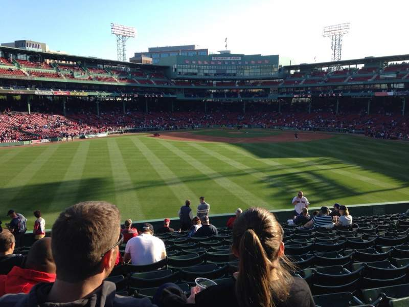 Seating view for Fenway Park Section Bleacher 36 Row 17 Seat 12