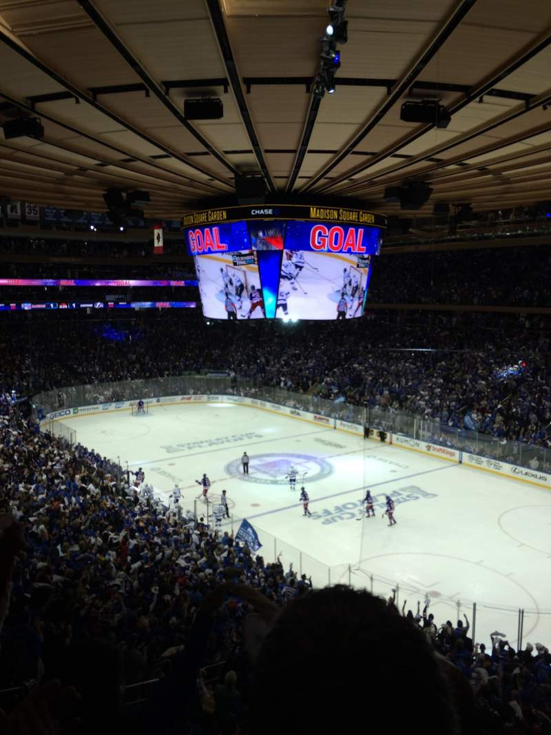 Seating view for Madison Square Garden Section 215 Row 3 Seat 5