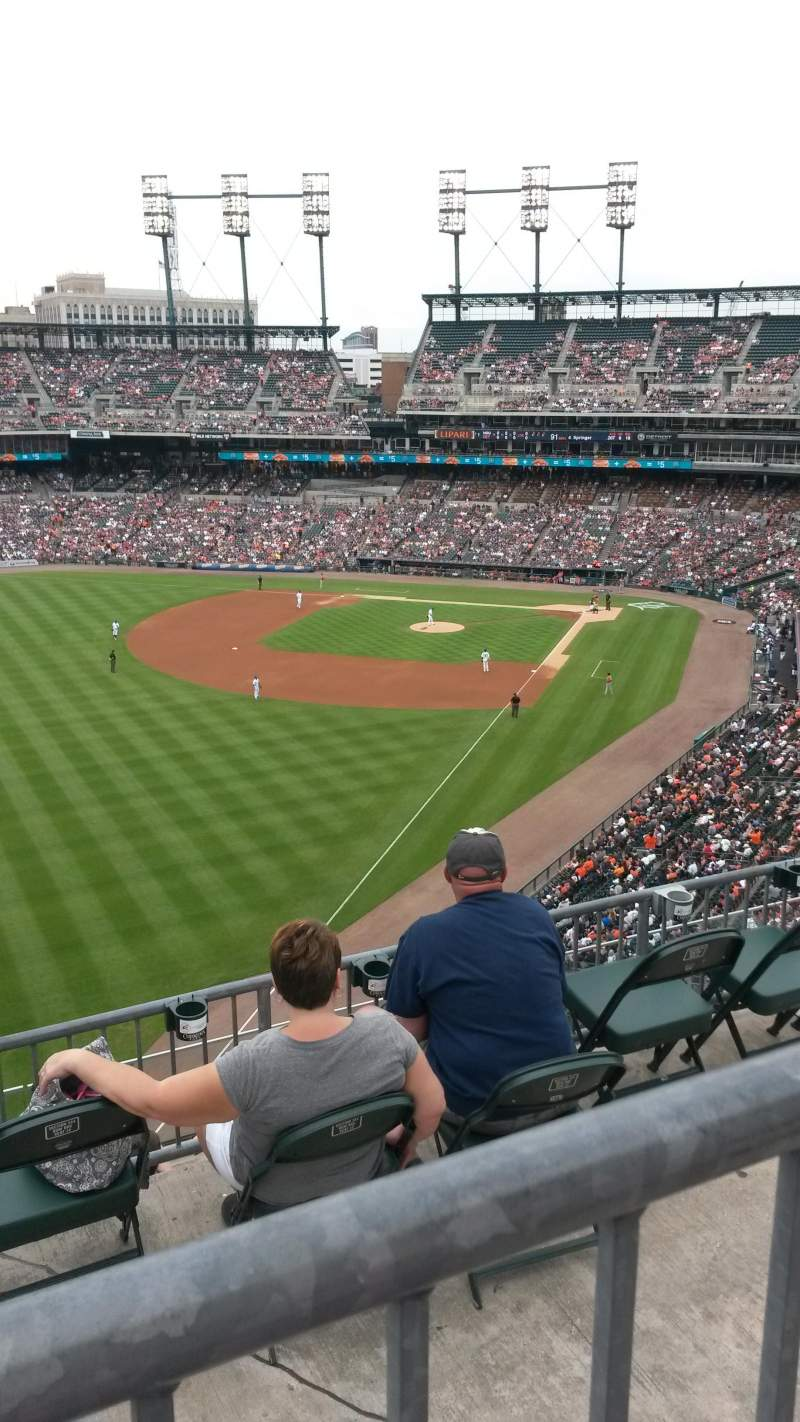 Seating view for Comerica Park Section 344 Row 1 Seat 19