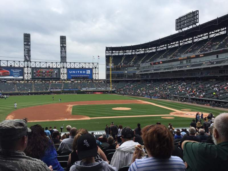 Seating view for Guaranteed Rate Field Section 140 Row 30 Seat 3