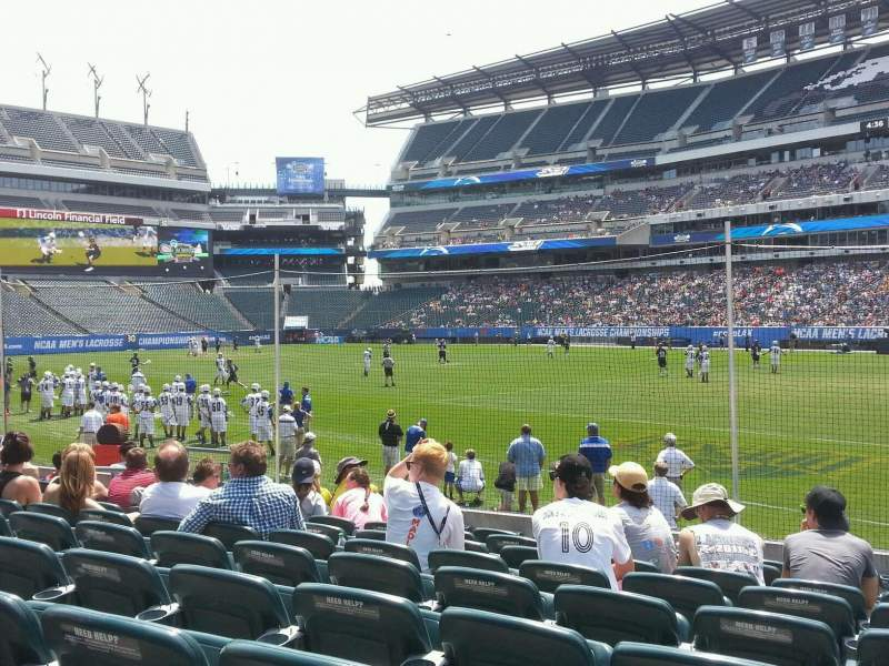 Seating view for Lincoln Financial Field Section 124 Row 9 Seat 14