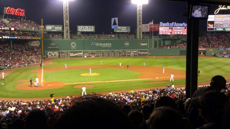Seating view for Fenway Park Section Grandstand 17 Row 13 Seat 16