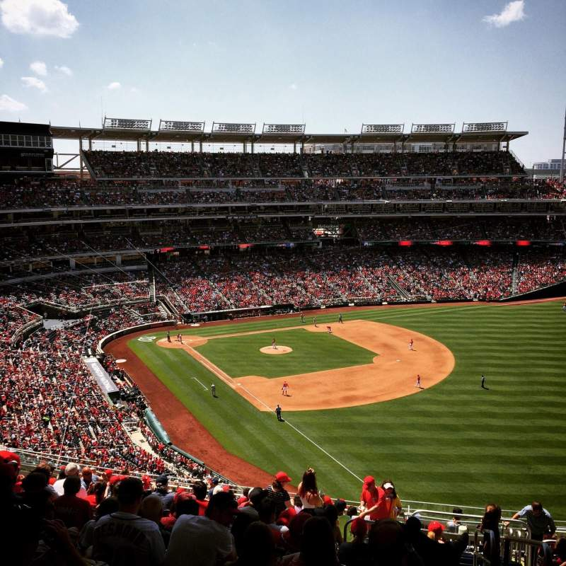Seating view for Nationals Park Section 228 Row X