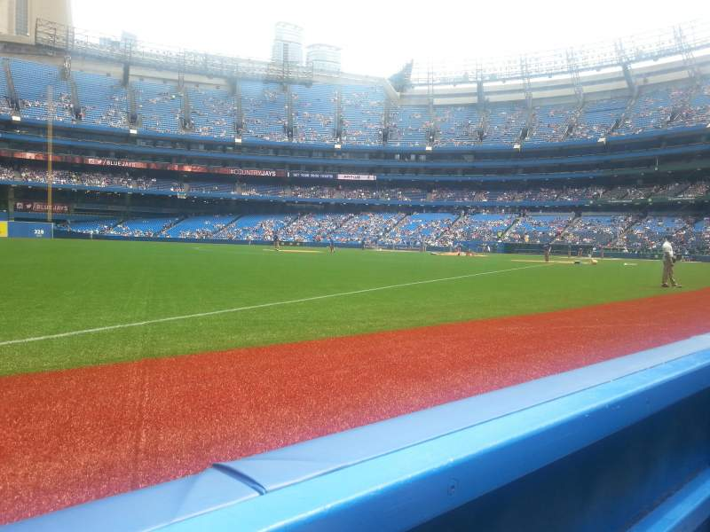 Seating view for Rogers Centre Section 130 Row 1 Seat 4