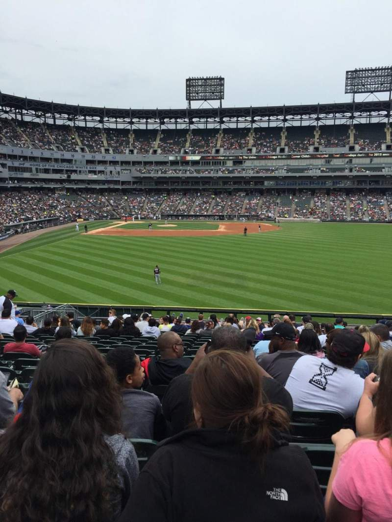 Seating view for Guaranteed Rate Field Section 105 Row 27 Seat 11