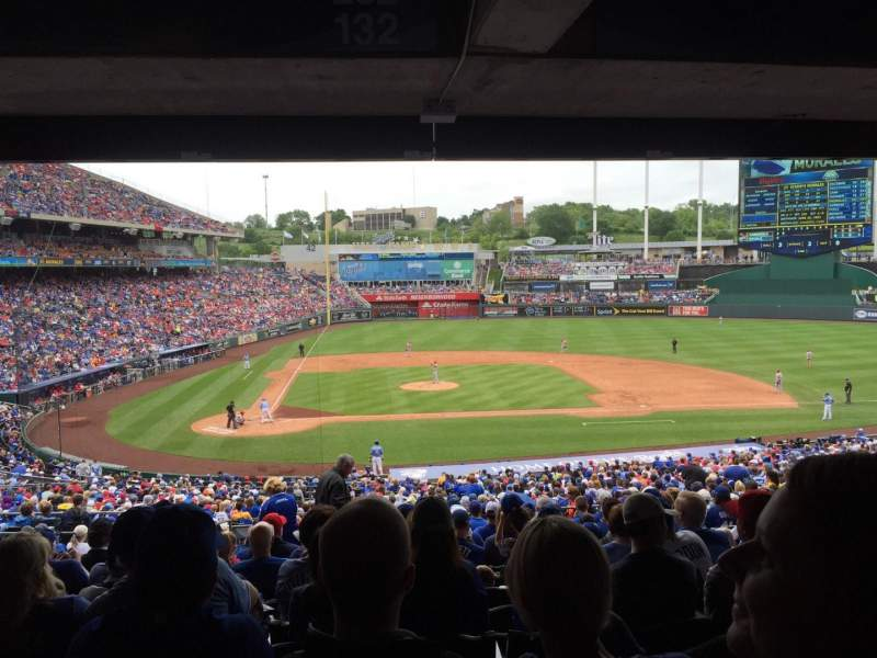 Seating view for Kauffman Stadium Section 232 Row RR Seat 6