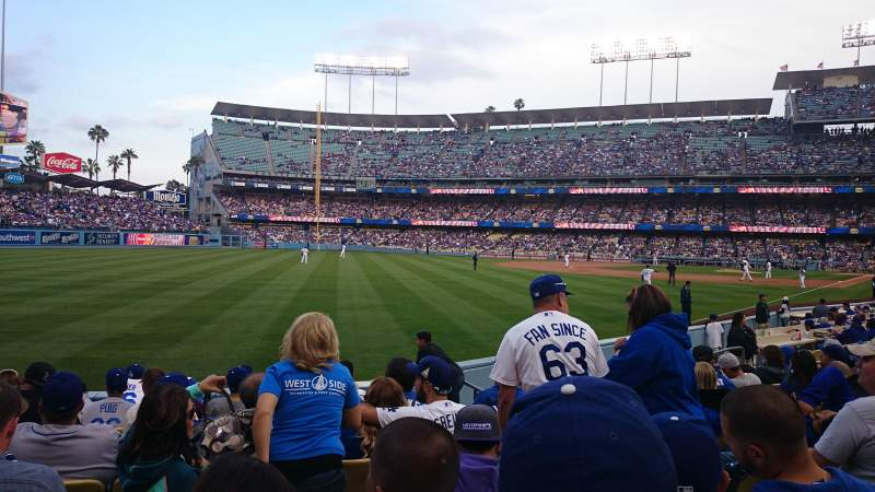 Seating view for Dodger Stadium Section 149lg Row J Seat 4