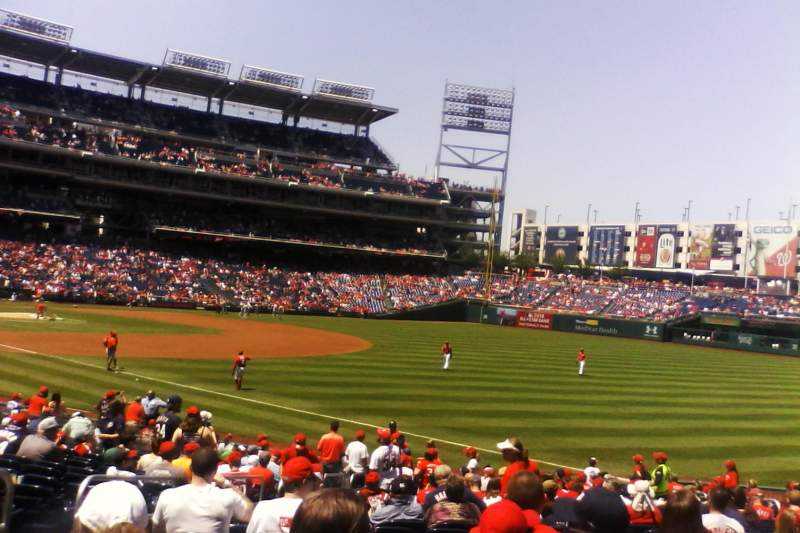 Seating view for Nationals Park Section 135 Row BB Seat 16