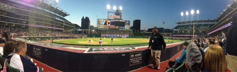 Seating view for Progressive Field Section 150 Row A