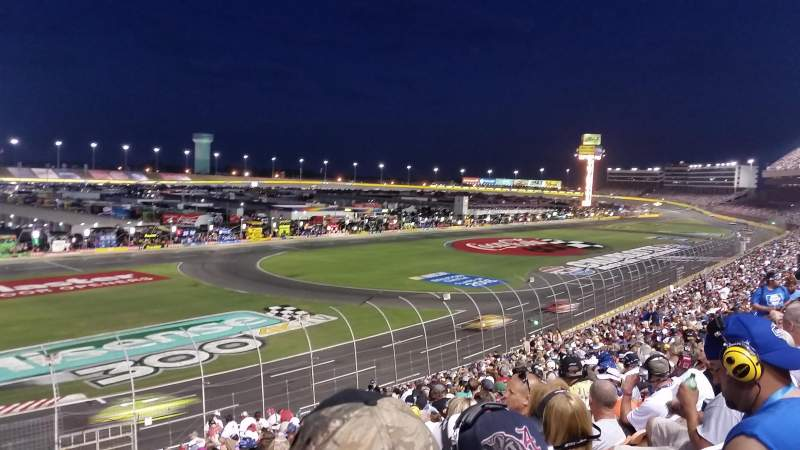 Seating view for Charlotte Motor Speedway Section Chrysler C Row 31