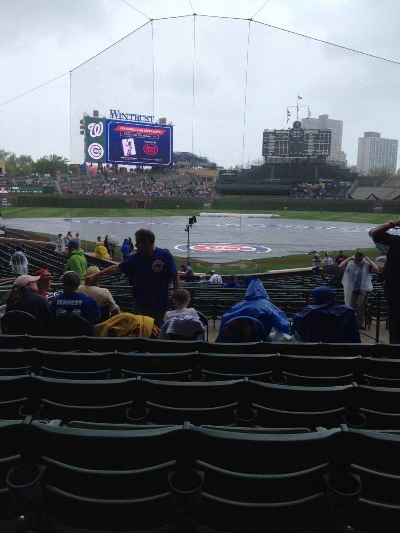 Seating view for Wrigley Field Section 121 Row 10 Seat 6