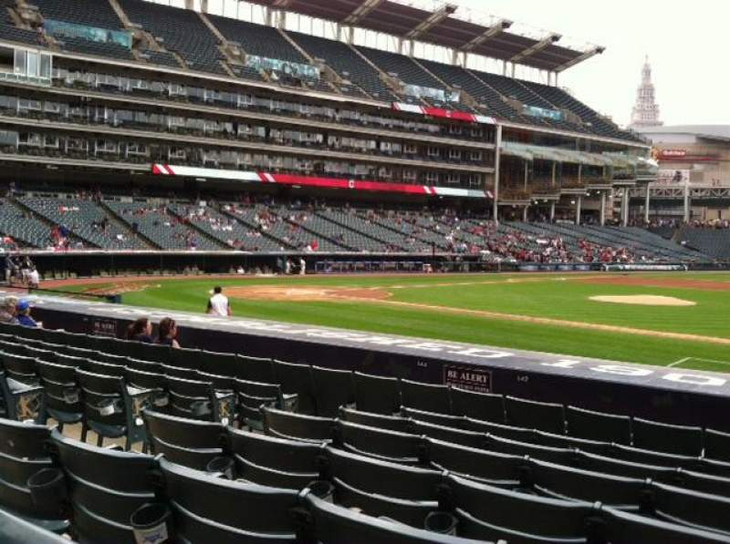 Seating view for Progressive Field Section 142 Row N Seat 6