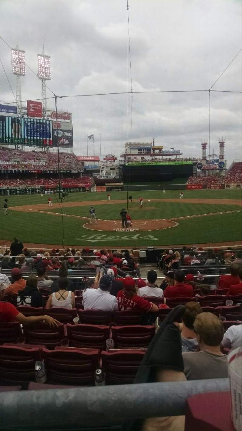 Seating view for Great American Ball Park Section W23 Row H Seat 4