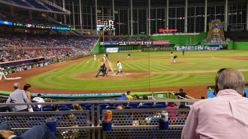 Seating view for Marlins Park Section 11 Row C Seat 9