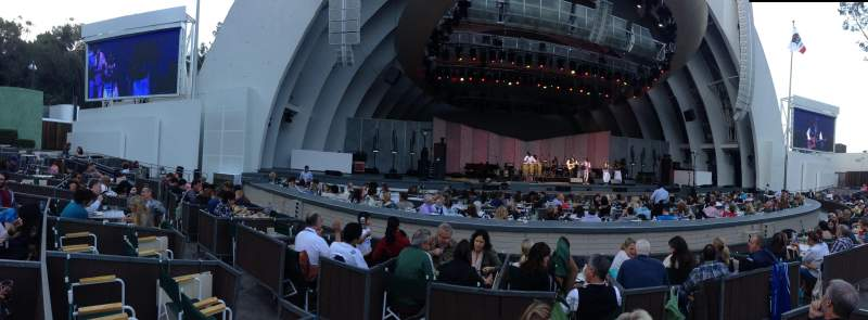 Seating view for Hollywood Bowl Section Garden Box Row 254 Seat 1