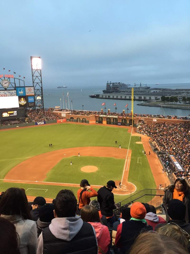 Seating view for AT&T Park Section 320 Row 9 Seat 2
