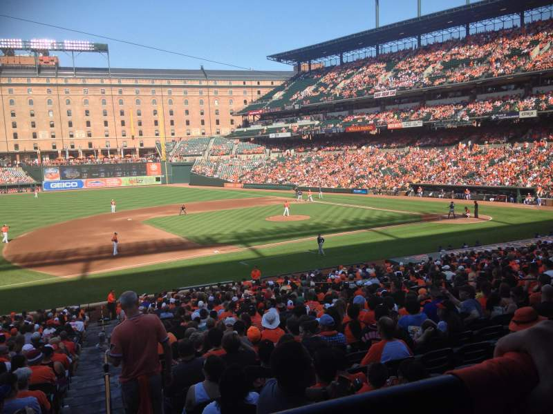 Seating view for Oriole Park at Camden Yards Section 55 Row 1 Seat 13