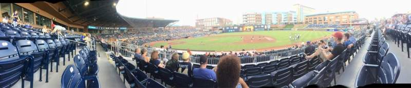 Seating view for Durham Bulls Athletic Park Section 210 Row Q Seat 7