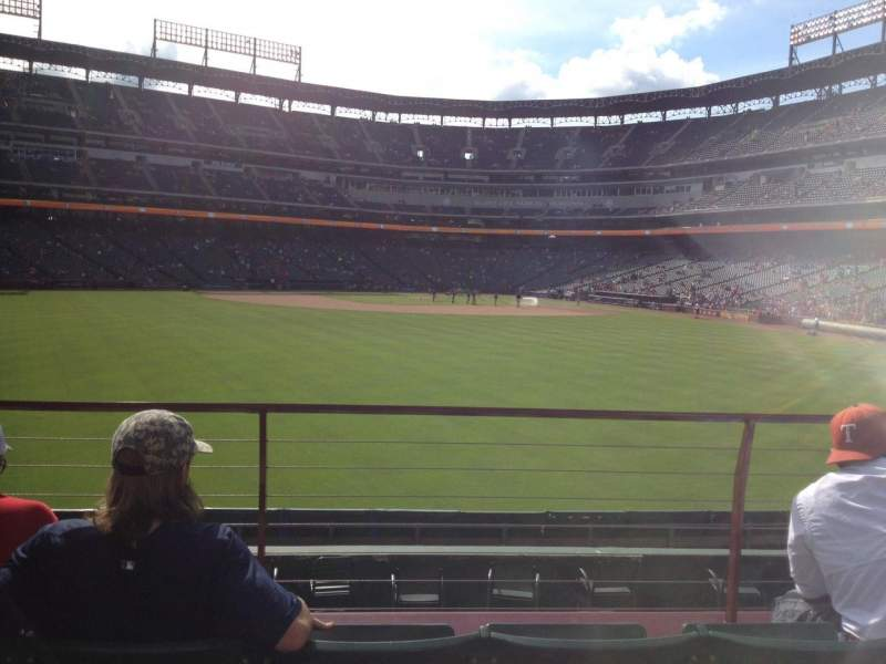 Seating view for Globe Life Park in Arlington Section 53 Row 13 Seat 5