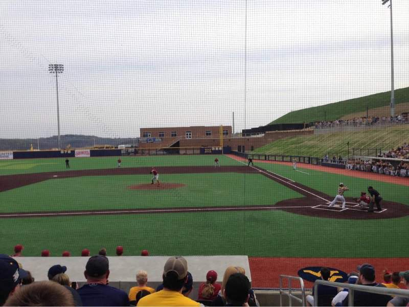 Seating view for Monongalia County Ballpark Section 102B Row J Seat 24